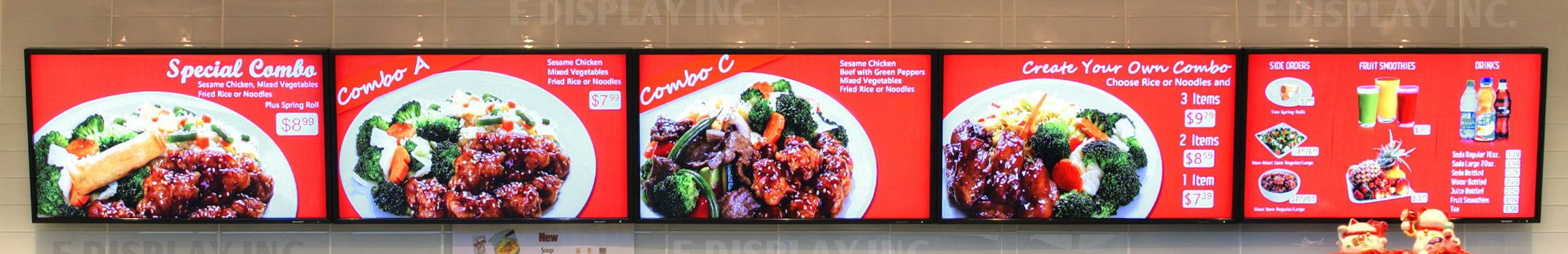 Indoor Menu Board Photo
